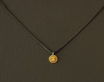 Choker with Gold Initial - 14K Gold Filled
