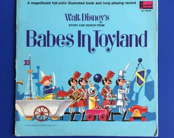 "1961 Walt Disney's Babes in Toyland 12"" LP Vinyl Record and Book"