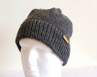Knit beanie, gift for husband, gifts for him, gifts for men, birthday gift, valentines day gift, handmade, anniversary gifts, wool, hat