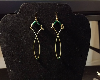 Green & Gold Statement Loops