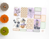 Halloween Witch, Big Happy Planner, Halloween Happy Planner, Happy Planner Stickers, Planner Sticker Kit, Weekly Sticker Kit, BHP9