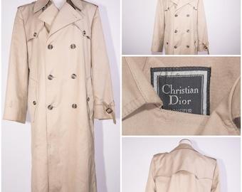 CHRISTIAN DIOR MONSEIUR/ Men's Khaki Trench Coat