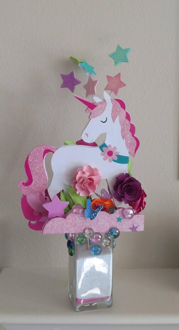 Unicorn centerpieces birthday wikii