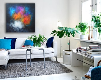 painting / contemporary art / original painting / modern art / abstract canvas art / art / wall art / Ready to hang / 100% Hand-Made.