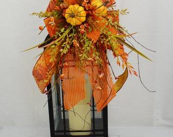 Fall floral swag, fall lantern swag, lantern swag, fall table decor, fall swag, autumn swag, autumn lantern swag, thanksgiving decor