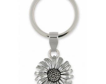 Daisy Key Ring Jewelry Sterling Silver Handmade Flower Key Ring DY5-KR