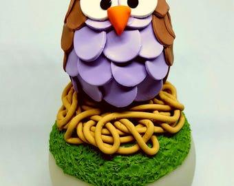 Night light LED purple OWL