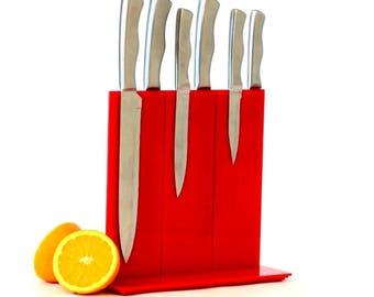 Red Magnetic Knife Rack, Knife Holder, Knife Block, Knife Stand