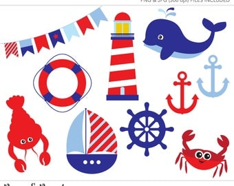 Clipart - Clip Art - Commercial Use Clipart - Commercial Use Clip Art - Nautical Clipart - Nautical Clip Art - Fish Clipart - Whale Clipart