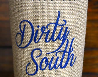 Dirty South burlap/neoprene insulated drink holder