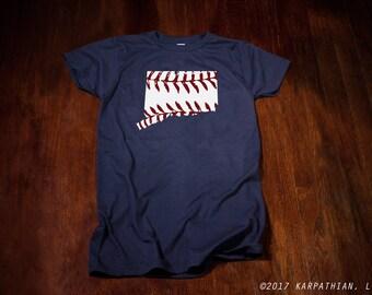 Connecticut baseball men's or ladies jr fit tee t-shirt