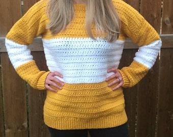 Crochet Pattern // Colour Block Sweater