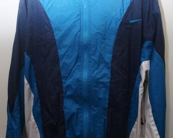 "Rare 90's Vintage ""NIKE"" Colorblocked Multicolor Windbreaker Jacket Sz: X-LARGE (Men's Exclusive)"