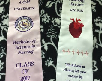 PVAMU Prairie View Texas A&M University Graduation Stoles Custom Options embroidery applique