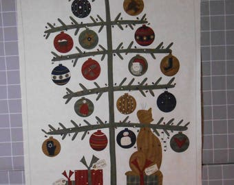 Take A Bough Christmas Fabric Panel by Sandy Gervais for Moda