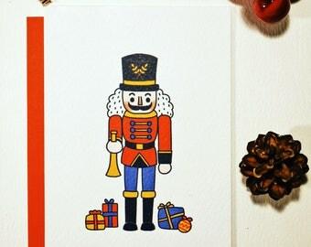 NEW - NUTCRACKER RED Christmas Card