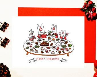 Bits Family Christmas Card - PIE