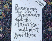 Raise your standards    A4 hand-drawn illustration