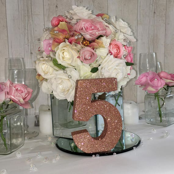 Gold Wedding Table Decorations: Wedding Table Numbers Rose Gold Wedding Wedding Reception