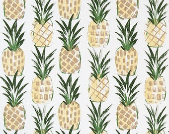 Pineapple Designer Fabric Home Decor Fabric Upholstery Fabric - 1/2 Yard