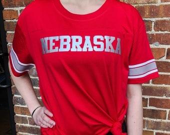 Nebraska Game Time Jersey, Football Nebraska, FROST, Football shirt, Home T-shirt, Nebraska graphic t, state pride tshirt,  free ship,