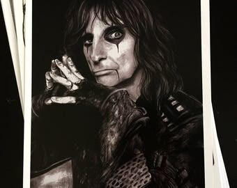 Alice Cooper - Signed Print