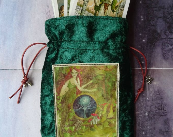 Featured listing image: The Green Goddess ~ Tarot Card Bag