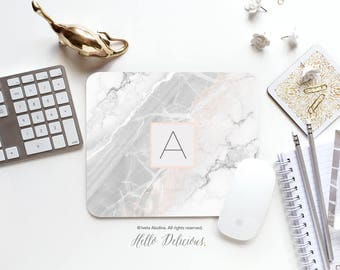 Marble Mouse Pad Monogram Mouse Pad Mousepad Marble Print Mouse Mat Mouse Pad Office Mousemat Rectangular Personalized Mousepad Round 122.