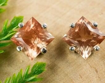 Oregon Sunstone Sterling Silver Earrings