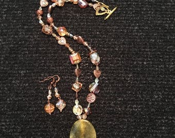 Bronze and Copper Necklace Set