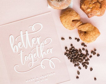 Better Together Sign - 8x10 - Acrylic Wedding Sign - Coffee and Donuts