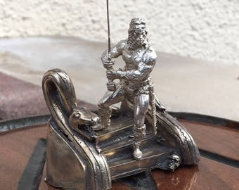 """WillsAttic hand cast silver """"Conan the Barbarian"""" Solid .925 Silver"""