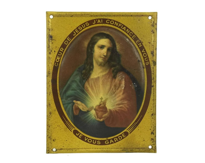 Sacred Heart of Jesus Portrait Wall Plaque.
