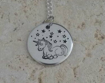 Unicorn necklace, gift for her, teen jewellery, cute jewellery,