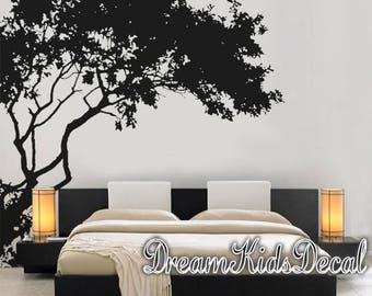 Wall Decal Nursery wall decals-Corner top tree branch-Large corner tree decals wall decor with birds decal- DK286