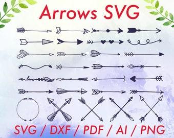 Tribal arrow svg / Tribal arrow clipart / Arrows clipart / Tribal arrows /