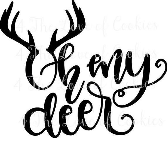 Oh My Deer Cookie Stencils, Mesh Stencils, Silk Screen Stencil Cookies,  Christmas Cookie Stencil Baby Shower Stencil, Boho Stencil