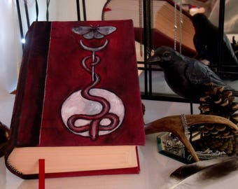 Serpent's Moon II 500 Page Blank Book of Shadows, Hand Painted 6x9 Journal