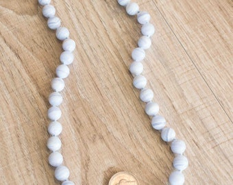 Light Blue Onyx or Adventurine Necklace