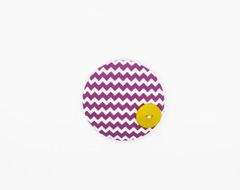 Fabric Button Brooch