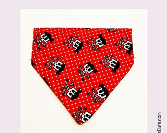 Dog Bandana ARRRR!  - Pirate Fabric in S, M and L Dog Sizes