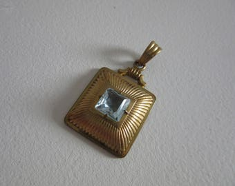 vintage Andreas Daub rolled-gold pendant