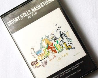 Crosby Stills Nash and Young Cassette Tape So Far