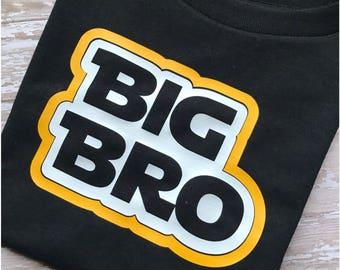 Star Wars Inspired Big Brother Tshirt, Big Bro Shirt, Personalized Jedi Inspired Big Brother Shirt, Toddler Boys, Pregnancy Announcement