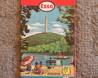 Vintage New Jersey Road Map