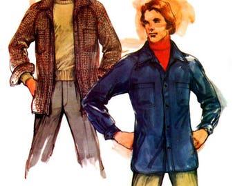 Uncut Sewing Pattern Vintage 1970s Butterick 3509 Mens Large Boho/Hippie Jacket Size 42-44