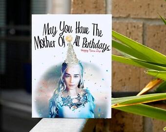 Khalessi // Daenerys // Game of Thrones // Birthday GOT // Mother of Dragon // Happy Name Day // targaryen // 7 kingdoms // hbo // custom