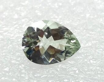 Pear Green Amethyst Faceted 13x10x6 mm Gemstone Cushion Shape Prasiolite Stone - Pear Cut Prasiolite Gems