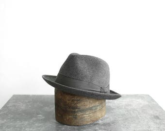 1950s Grey Felt Hat - Made In France
