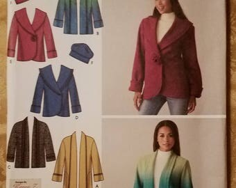 Simplicity 4025 - Misses' Jacket Pattern - Sizes Extra Small, Small, Medium, Large, and Extra Large - Ladies and Women's Jacket Pattern